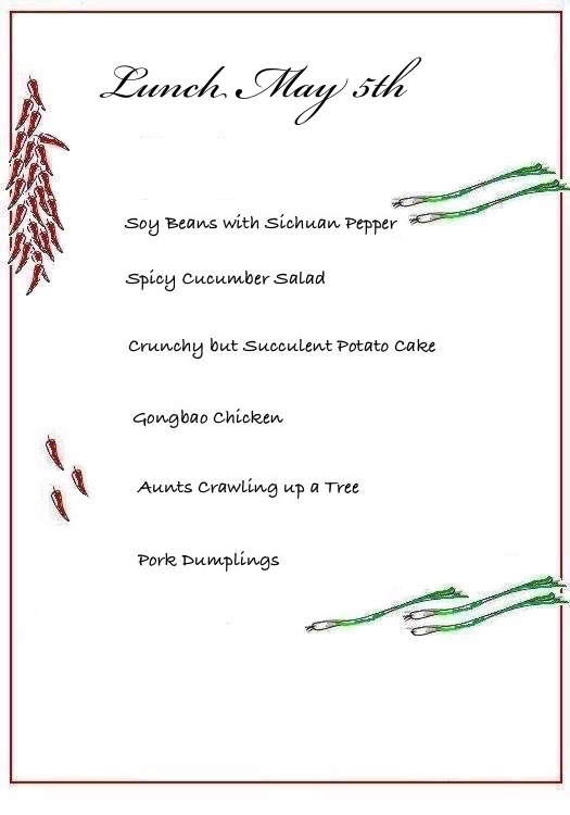 CHILLies! Menu May 5th illustra - Cecilie's PenAndWok.com