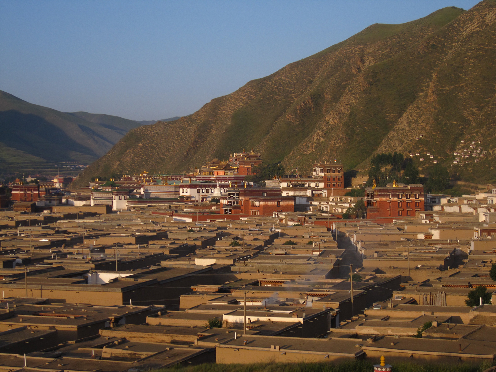 Xiahe in Gansu province monastery Buddhists monks