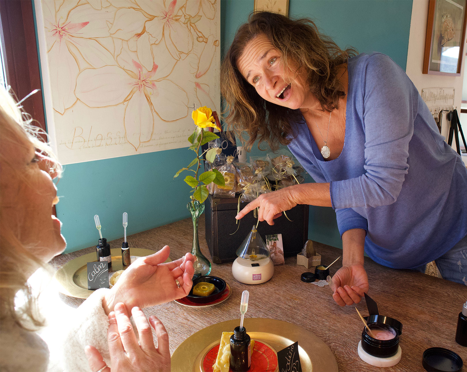 Bettina-Papenkort,-Indigo-Spa,-customer-and-creams Indigo Spa, Hidden Paradise of Well-being  - PenAndWok.com - Cecilie's PenAndWok.com