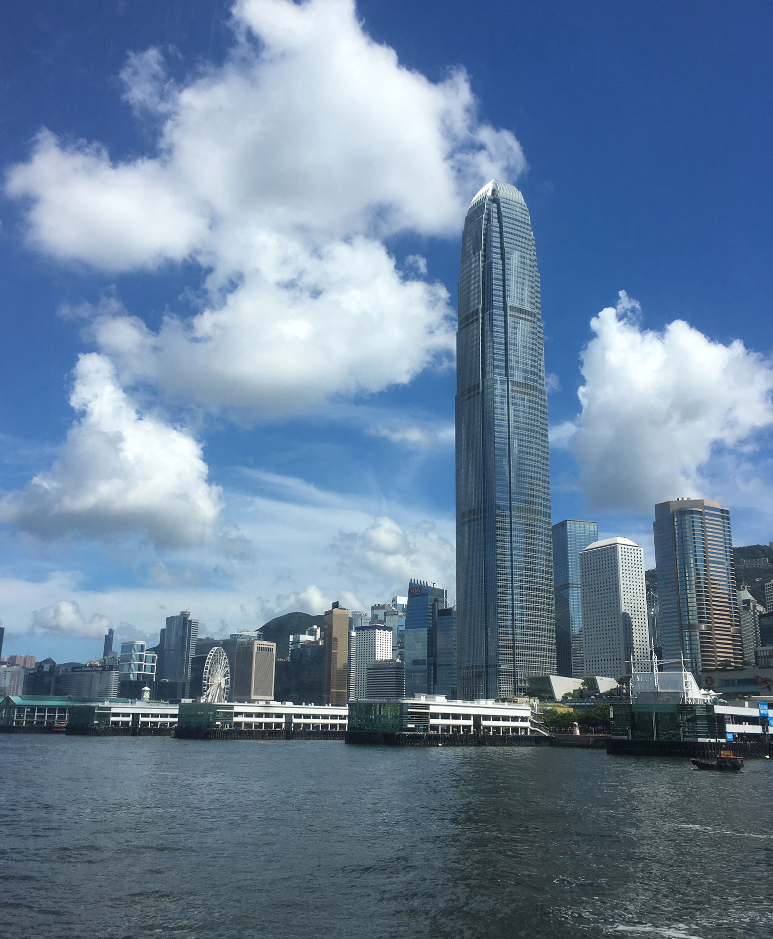 IFC 2 towers over Hong kong